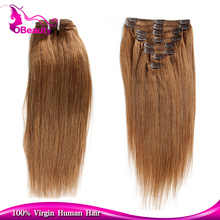 Ppomppu Single Colored #8 Deep brown Silky Straight clips-in layer hair extensions can iron and dye