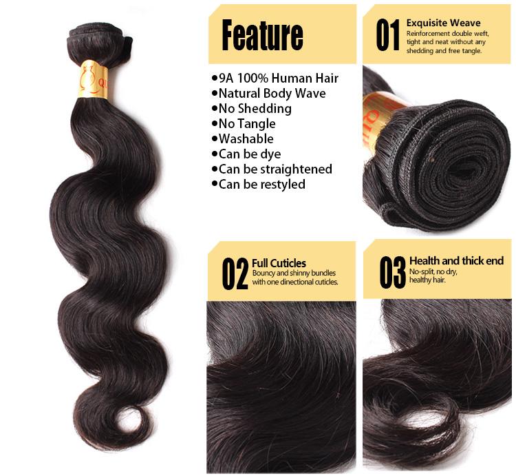 Natural Virgin 100 Human Hair Weave Product Hair Extension Origin