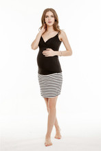 Sexy Black Maternity Wear Nursing Vest Maternity Clothes Wholesale in High Quality WD002