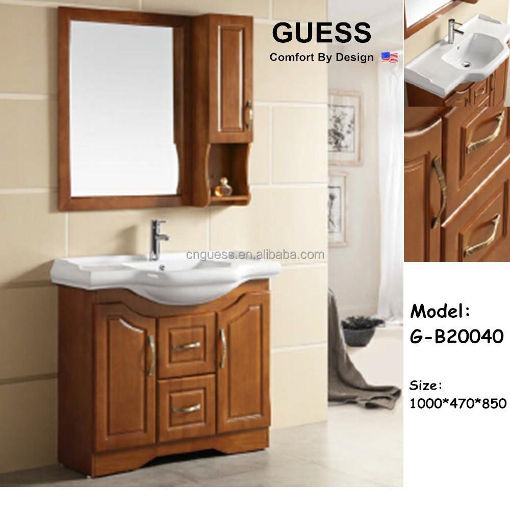 Bathroom vanity set solid wood home furniture g b20040 buy cheap bathroom vanity sets bathroom for Discount bathroom vanity sets