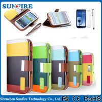 Flip leather case for samsung galaxy s4 mini, for samsung galaxy s4 mini i9190 i9192 case