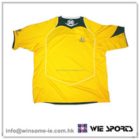 Hot sale classic adult 100% polyester moisture wicking sun proof anti bacterial football shirt