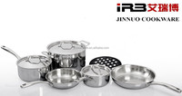 TRI-PLY Stainless Steel aluminum core Cookware Set, FRY PAN, SAUCEPAN, STOCKPOT, POT HOLD