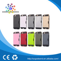 New Factory made TPU card slot bulk cell phone case for iphone 6s plus