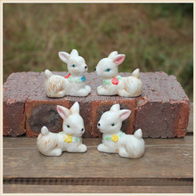 ceramic garden ornament rabbit figurine for decoration