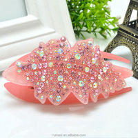 Real Nice 2015 acrylic crystal crocodile hair clips hippie hair accessories