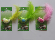 innovative little bird cat toy with catnip and feather from China