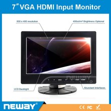 7 inch car vga /hd-mi input widescreen touch monitor with reasonable price
