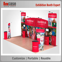 Aluminum truss spring pop up display stand portable trade show booth