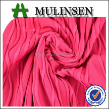 Mulinsen Textile 2014 New Design Poly DTY Spandex Knitting Pink Jacquard Fabric Picture