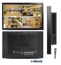32inch ultra slim inch lcd tv, professional cctv monitor with VGA/DVI/HDMI/USB input