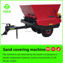 PTO Powered Honda Engine Tractor Driven Fairway Sand Covering Machine for Sale