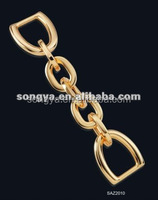 Song A Metal High quality key chain holding rings decorative metal chain for handbag