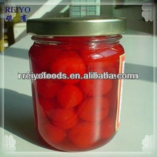 Canned cherries in syrup 425g tins in China plastics 2013