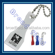 3D Promotional cheap plastic keychain for Lottery Scraper