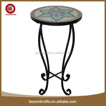 Low cost high legs most popular leisure round metal corner table