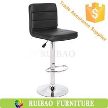 Chrome Bar Stool com assento de couro mesas e cadeiras de Bar para café