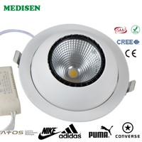 High power square led downlight 30W ceiling lights led light indoor movable ceiling light fixture