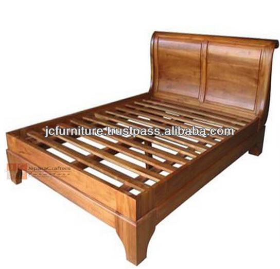 Bedroom Sleigh Beds Solid Teak Wood Indonesia Furniture Buy Teak Beds Teak Wood Bedroom