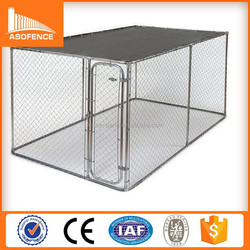 China high quality 10x10x6 foot classic galvanized outdoor dog kennel/ durable dog kennel/ cheap dog kennels cage