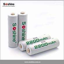 2015 Soshine New product 1.2V Ni-MH AA/Mignon 2200mAh ni-mh aa rechargeable battery
