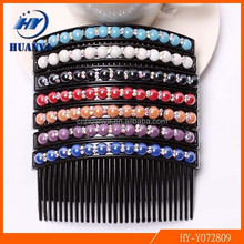 beard comb rhinestone hair accessories wholesale fashion big pearl jewelry inserted hair comb bride wedding accessories
