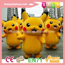 Happy Island CE Hot selling Pikachu costume mascot,pikachu mascot costume for adult