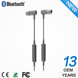 Plastic headphones in ear bluetooth earbud for mp3 mobile phone