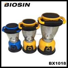 BX1018 Popular design 6led solar energy camping portable led lantern with mobile charging function