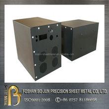 Customized black powder coated metal box , electronic enclosures