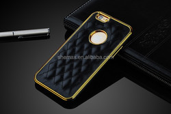 Luxury two mobile phone Leather Case for iPhone 6/6 Plus
