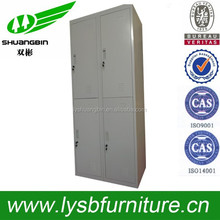 Steel corner wardrobe/big space 4 doors cabinet/gym knock down storage locker wardrobe