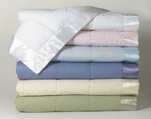 230 thread count Cover Quilted Down Blanket with wide satin flange