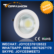 innovative produc ceiling design cob led downlight 30w hot sale housing lighing 4/6/8inch ip44 20w dimmable led down Light