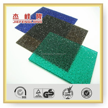 UV coated plastic decorative embossed roofing sheet for skylight