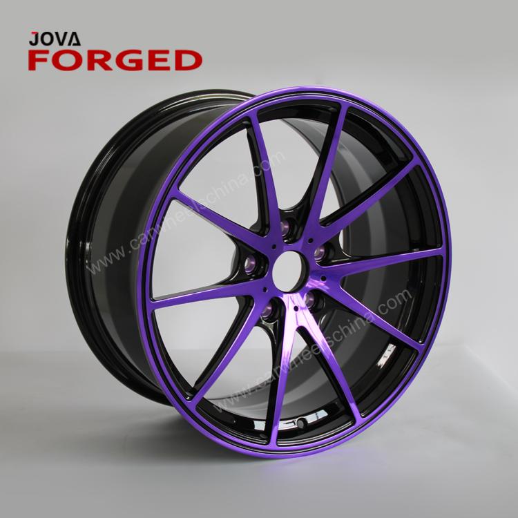 22 pulgadas 10 Lug aleación rendimiento negro y púrpura llantas