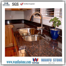 Prefab Tan brown granite for kitchen countertop