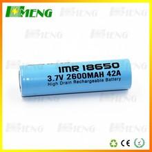 Gold Supplier Original Factory 18650 Battery Wholesale! 42A E cig 2600mAh 3.7v Rechargeable Imr 18650 Vape Battery