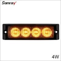 Brand new Amber/Blue/Red 4 LED Strobe Flash Light Car/Truck 12V DC