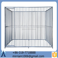 2015 Hot Sale and Low price Durable and anti-rust galvanized larger outdoor dog cages/dog kennels