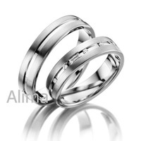 AGR0219-W new model wedding ring king and queen engagement and wedding ring