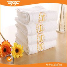 Famous Brand embroidery bath towel hotel logo white microfiber towels