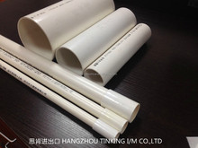 Pvc pipes and fittings of white color