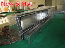 High quality Aluminum diamod plate topsider truck tool boxes with drawers,aluminum truck tool box