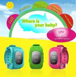 children wearable smart watch anti lost kids SOS gps location tracker Q50 kids smart mobile phone watch
