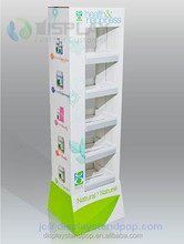 outstanding looking two sides chewing gum cardboard stand racks for promotional activities