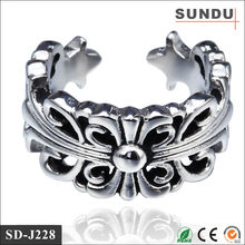 Factory direct sale 304 316L spikes stainless steel crown Jesus Christ ring