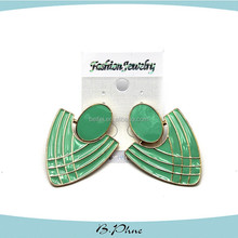 Green solid color turkish party earrings jewelry fancy earrings for party girls