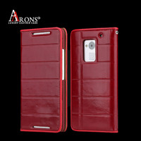 Business holster leather book cover for htc one max case