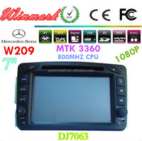 factory supply 7inch 2din special car radio for Mercedes-Benz W209 (1998-2004) with 800MHZ CPU and 256MB RAM